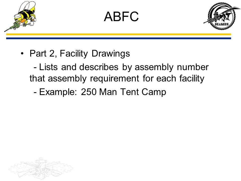 ABFC Part 2, Facility Drawings