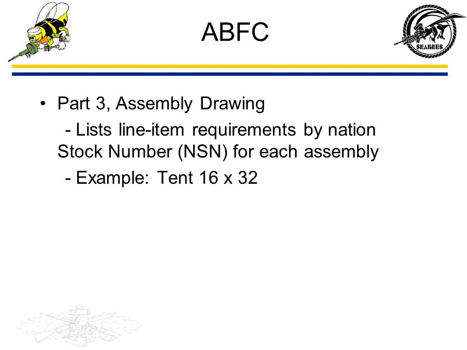ABFC Part 3, Assembly Drawing