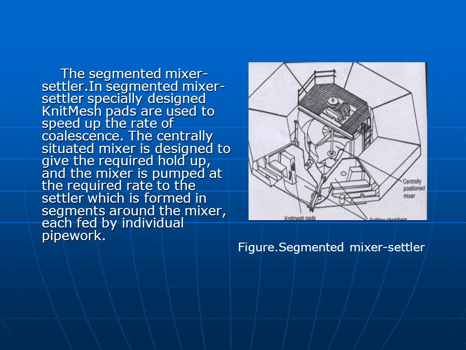 The segmented mixer-settler