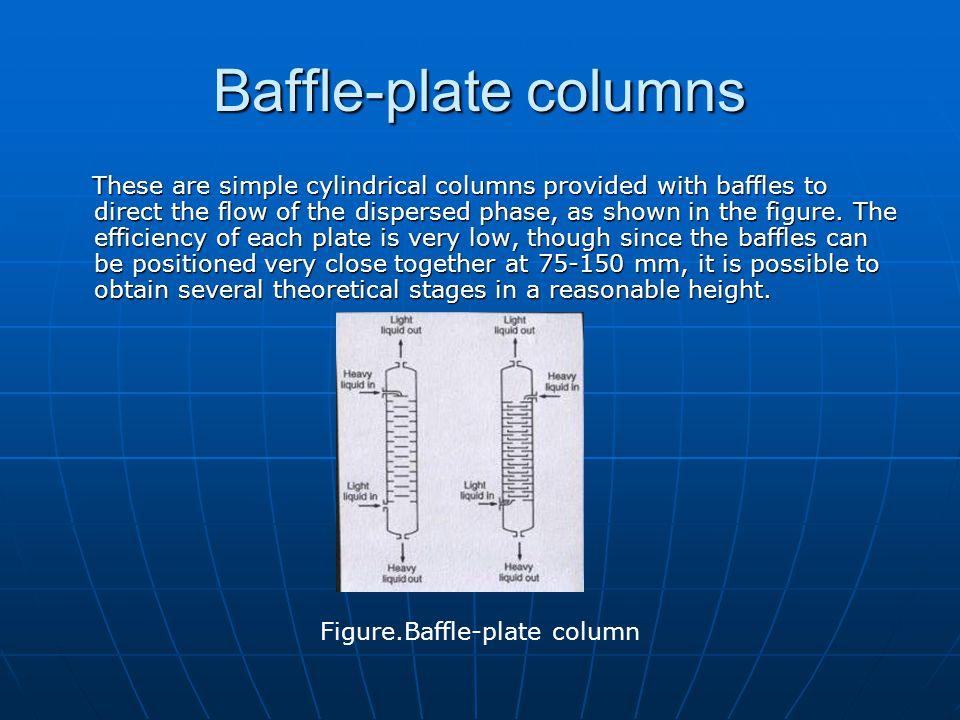 Baffle-plate columns
