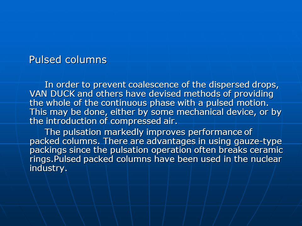 Pulsed columns