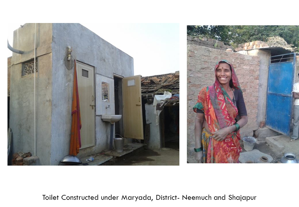 Toilet Constructed under Maryada, District- Neemuch and Shajapur