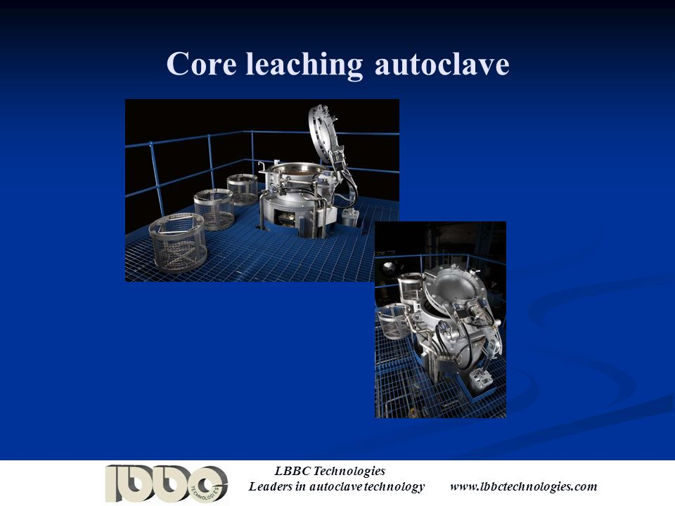 Core leaching autoclave