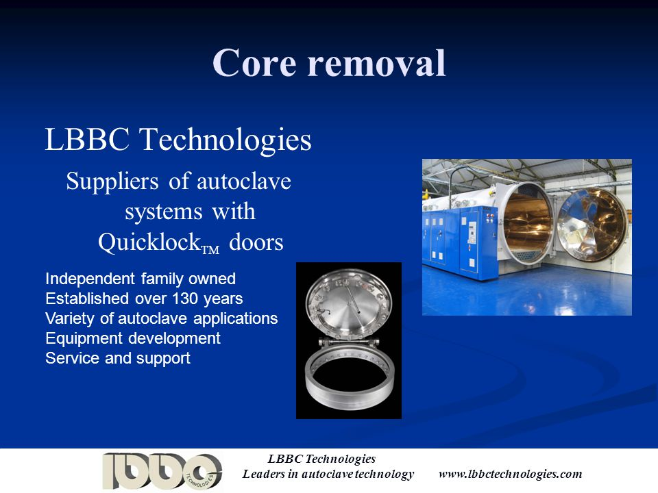 Suppliers of autoclave systems with QuicklockTM doors