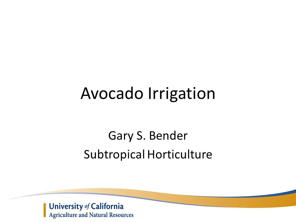 Gary S. Bender Subtropical Horticulture