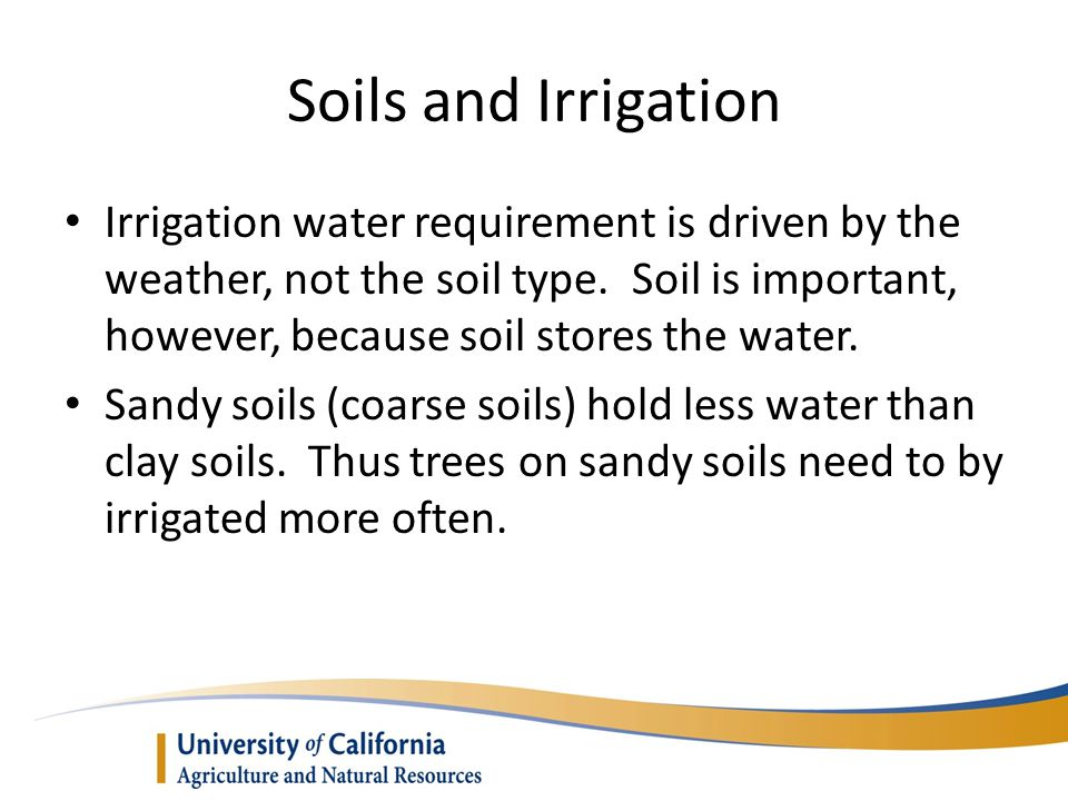 Soils and Irrigation