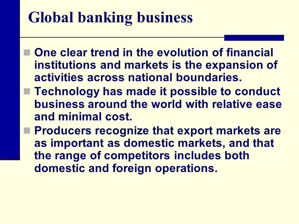 Global banking business