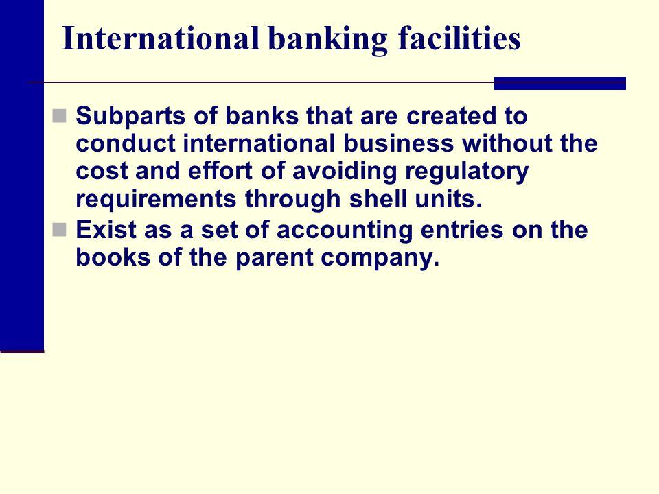 International banking facilities