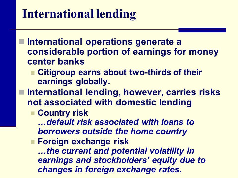 International lending