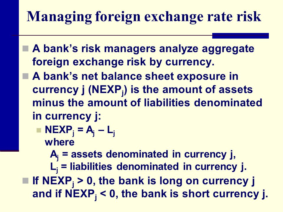 Managing foreign exchange rate risk