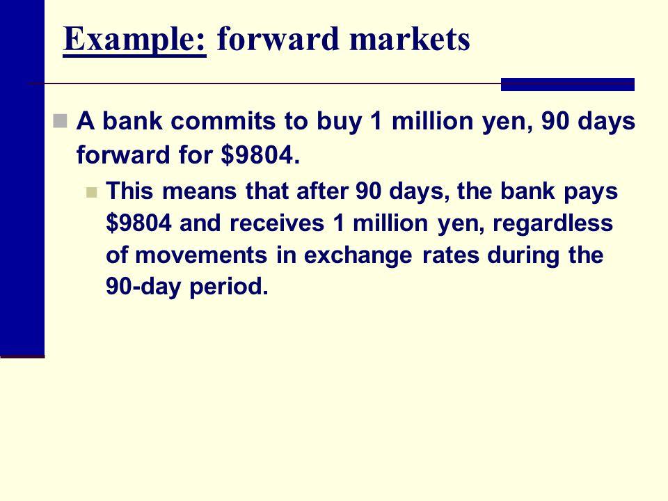 Example: forward markets