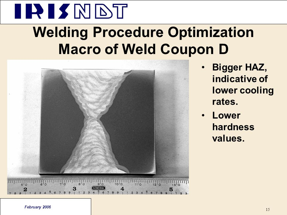 Welding Procedure Optimization Macro of Weld Coupon D