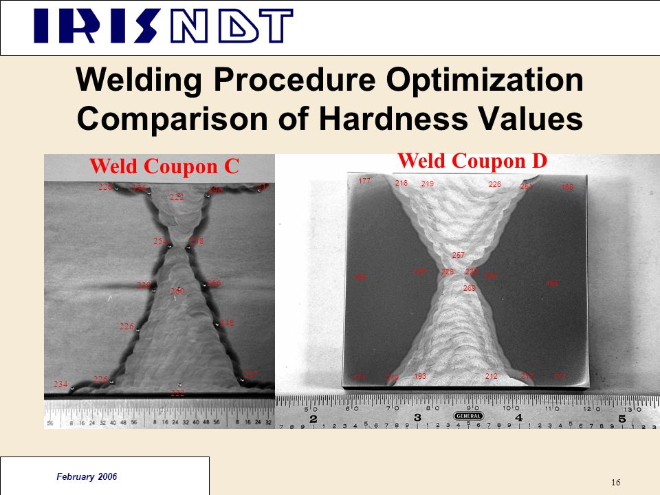 Welding Procedure Optimization Comparison of Hardness Values