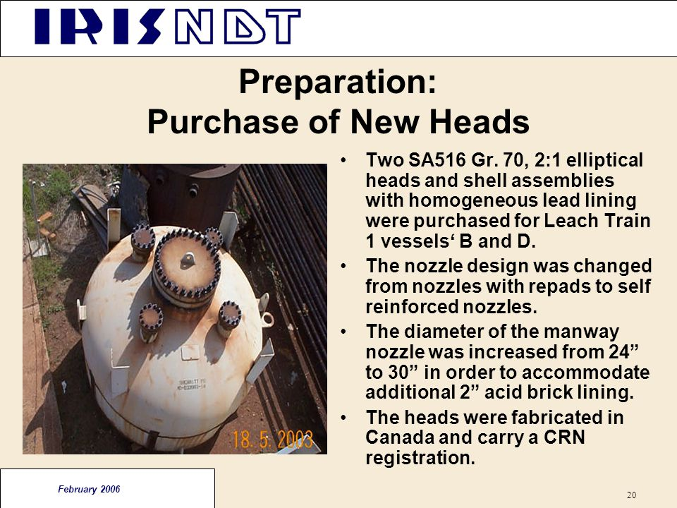 Preparation: Purchase of New Heads