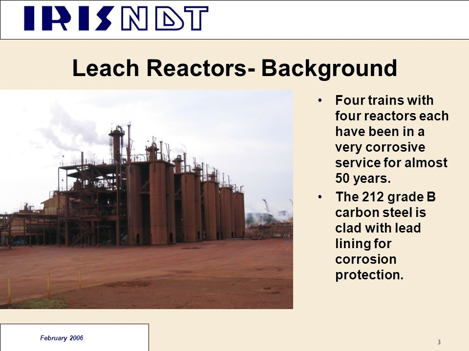 Leach Reactors- Background