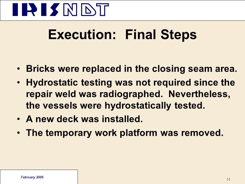 Execution: Final Steps