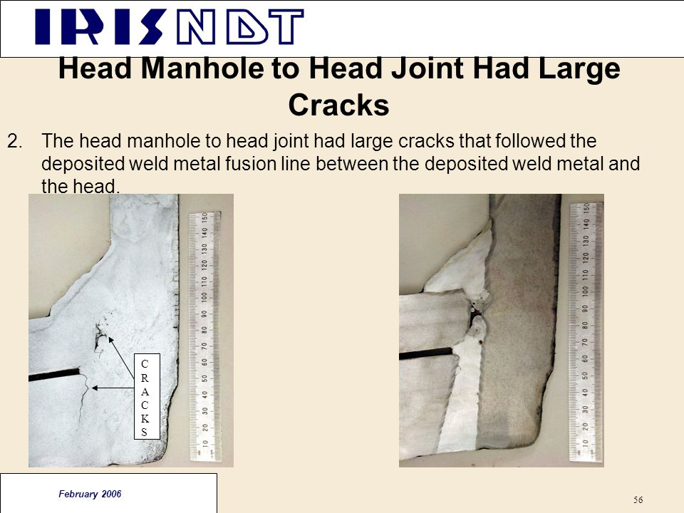 Head Manhole to Head Joint Had Large Cracks