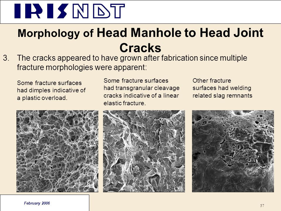 Morphology of Head Manhole to Head Joint Cracks