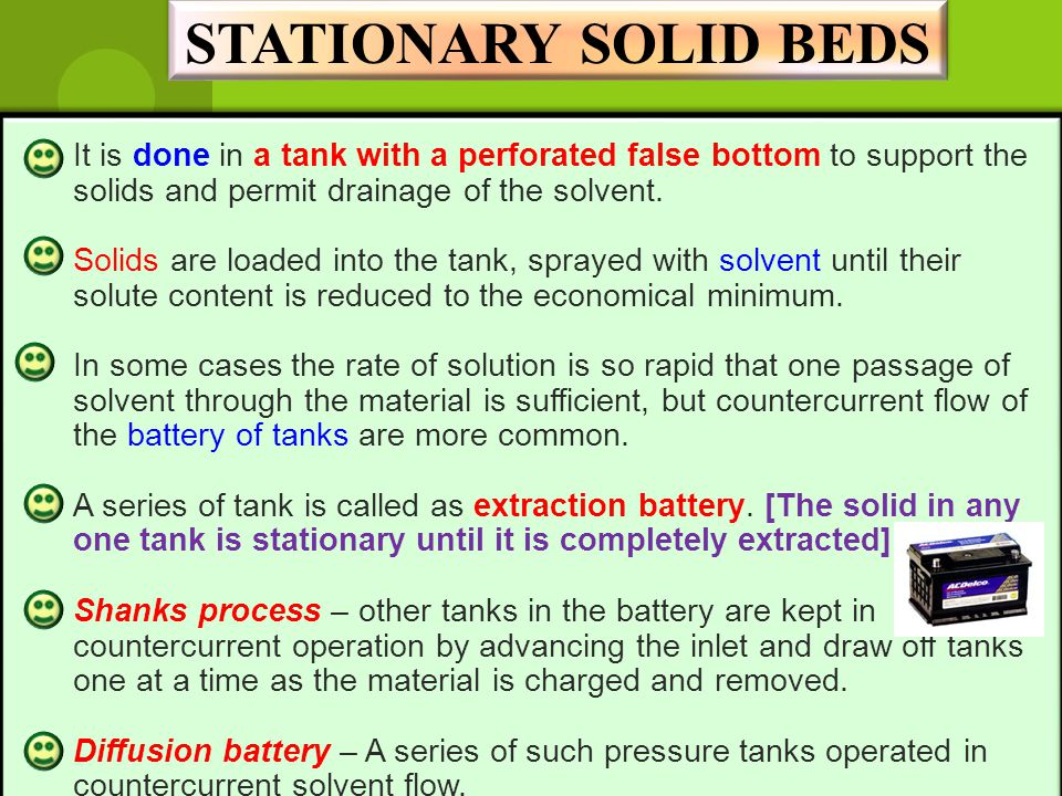 STATIONARY SOLID BEDS