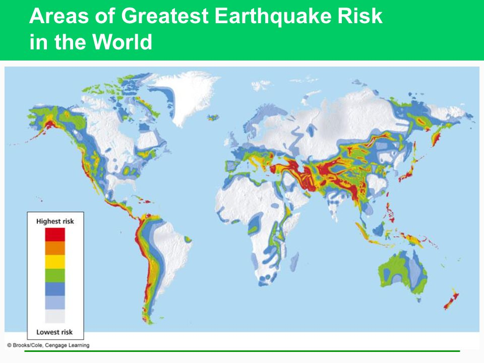 Areas of Greatest Earthquake Risk in the World