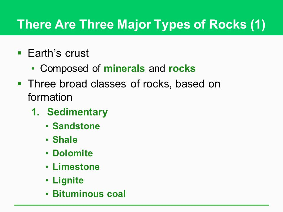 There Are Three Major Types of Rocks (1)
