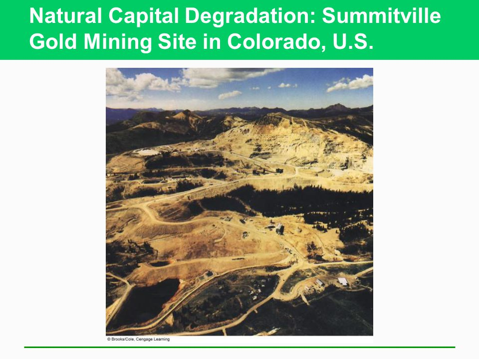 Natural Capital Degradation: Summitville Gold Mining Site in Colorado, U.S.