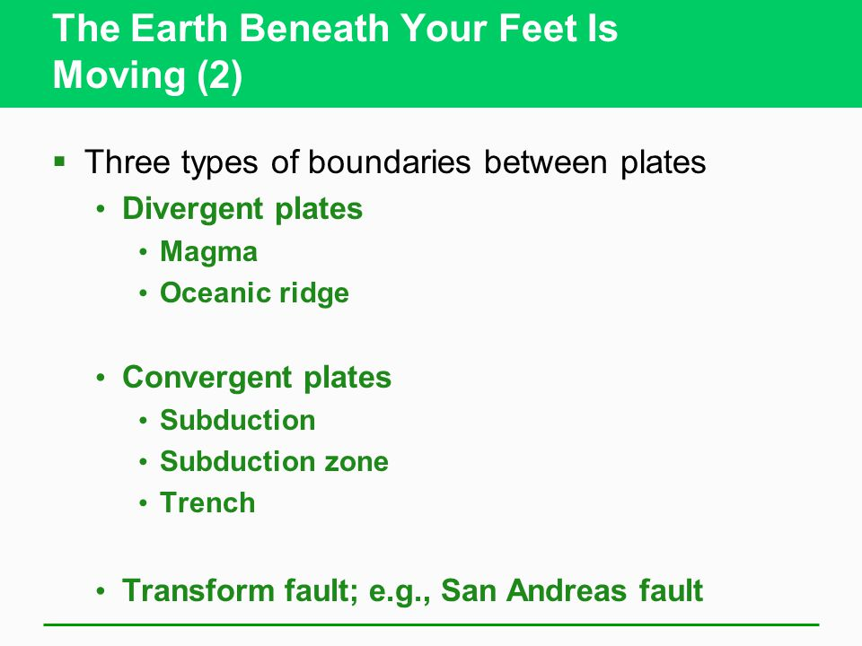 The Earth Beneath Your Feet Is Moving (2)