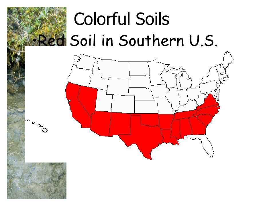 Colorful Soils Red Soil in Southern U.S.