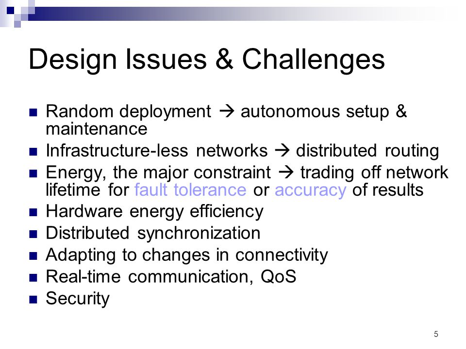 Design Issues & Challenges
