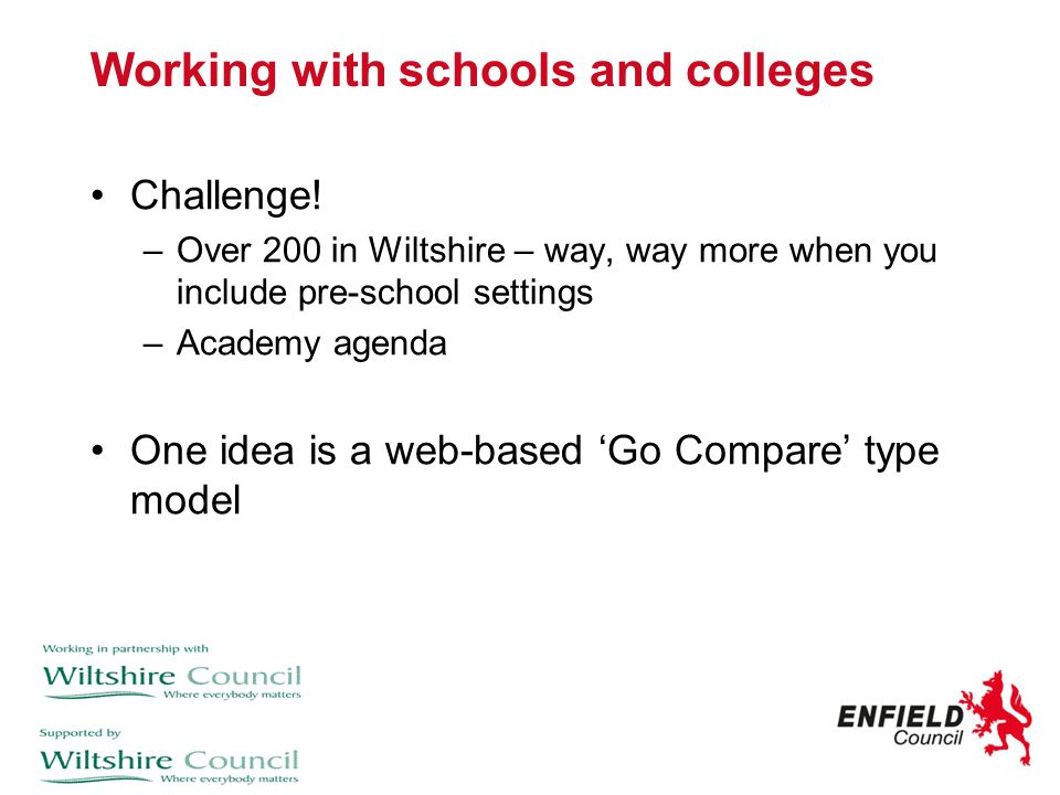 Working with schools and colleges