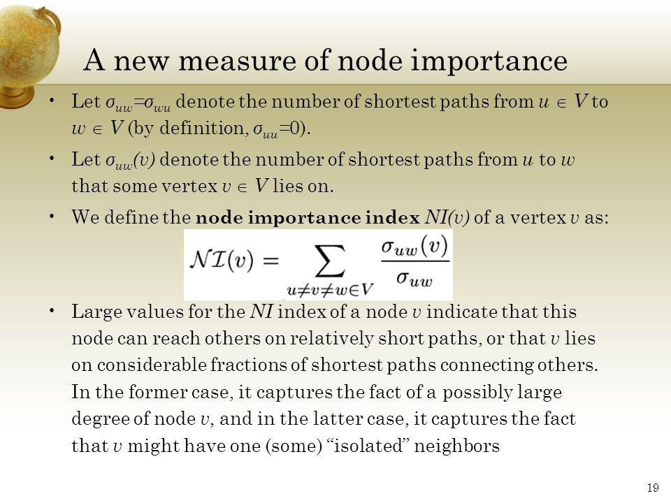 A new measure of node importance