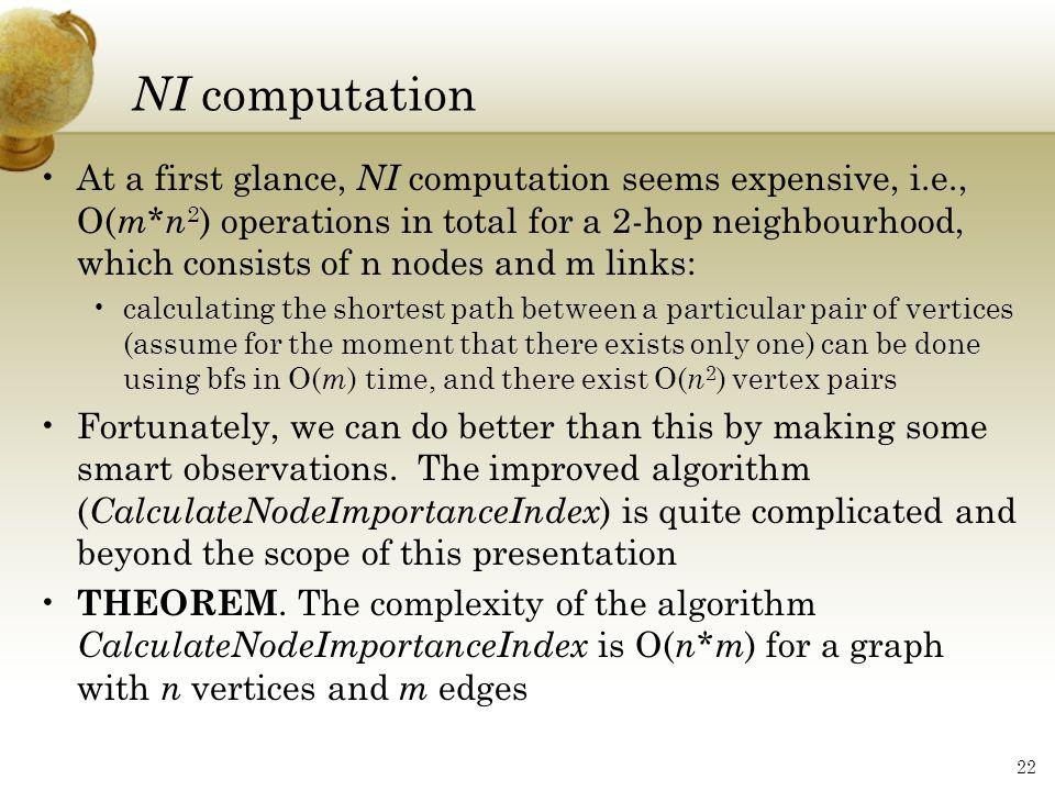 NI computation