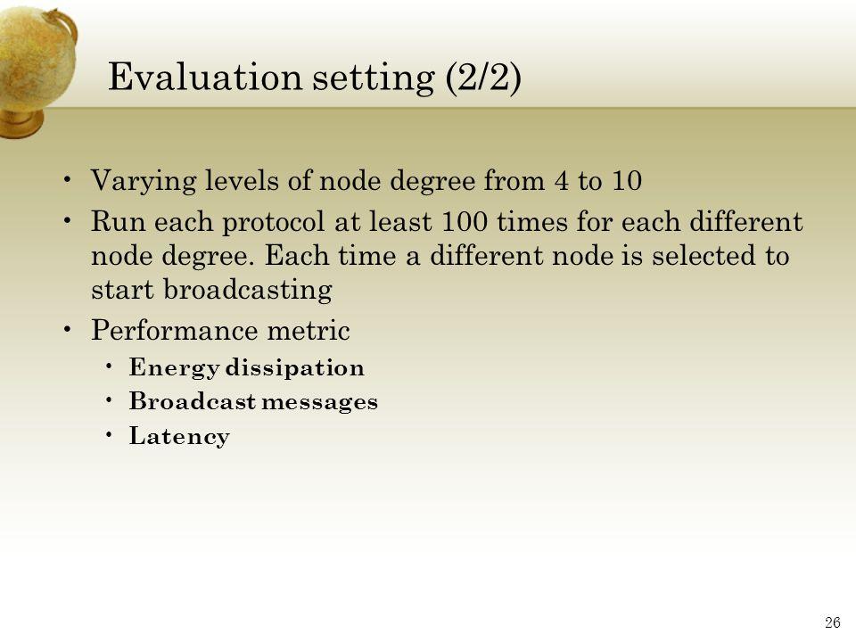 Evaluation setting (2/2)
