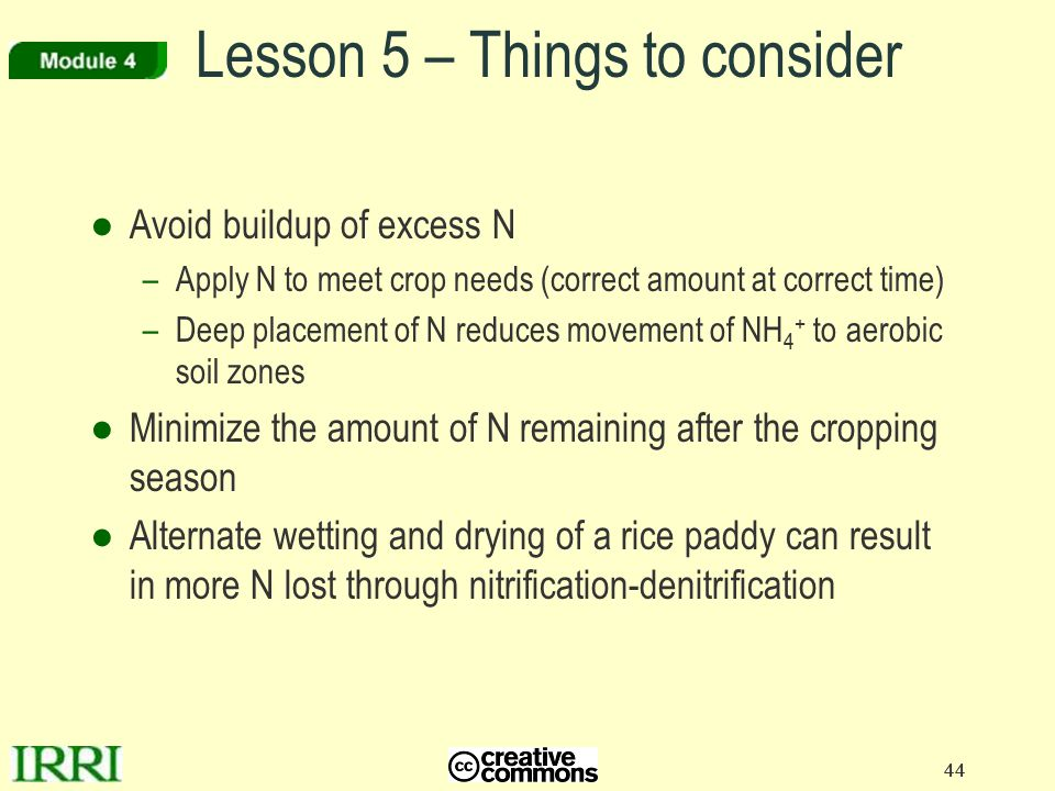 Lesson 5 – Things to consider