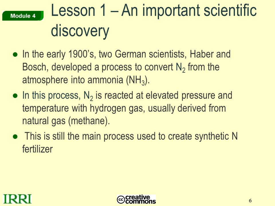 Lesson 1 – An important scientific discovery