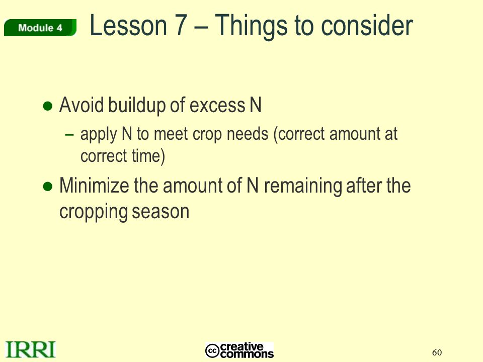 Lesson 7 – Things to consider
