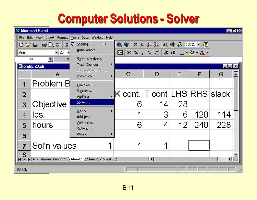 Computer Solutions - Solver