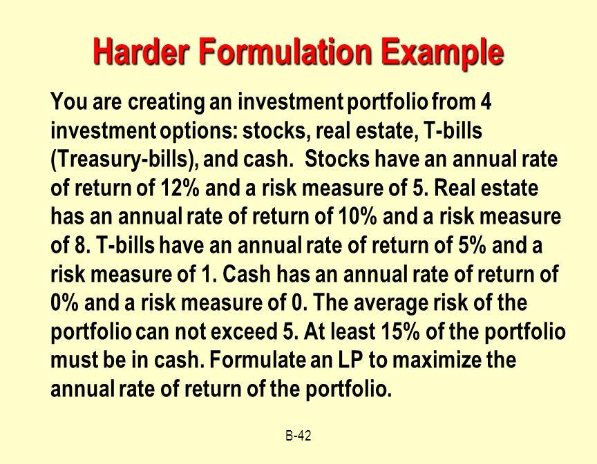Harder Formulation Example