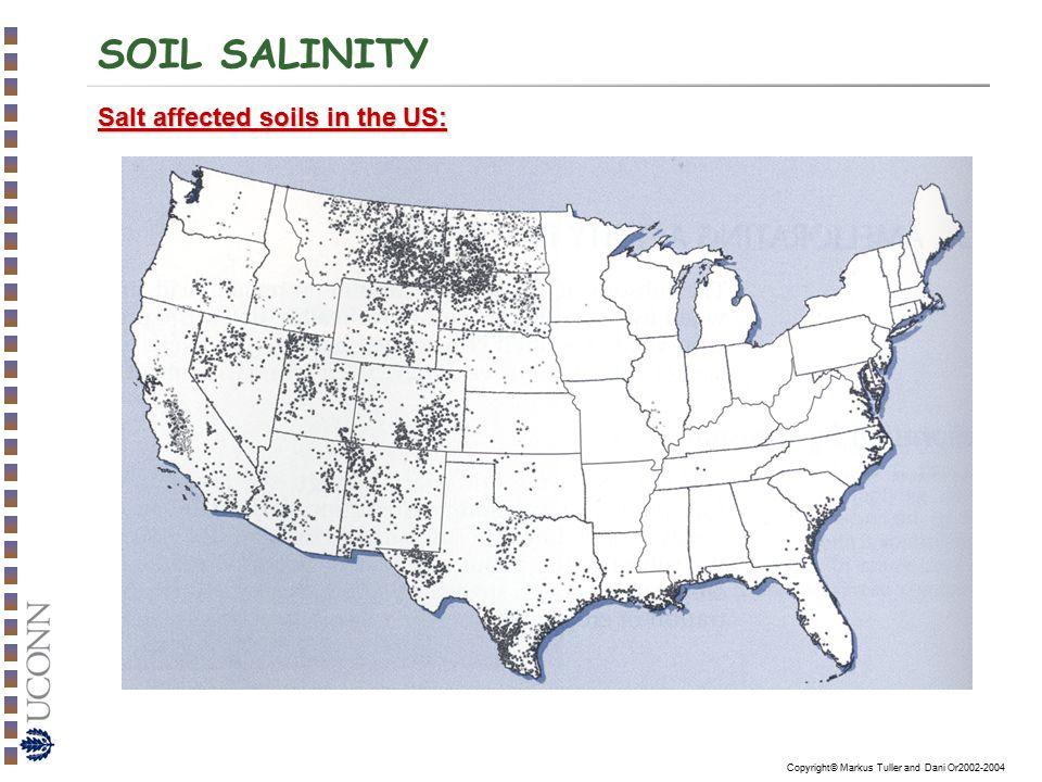 SOIL SALINITY Salt affected soils in the US: