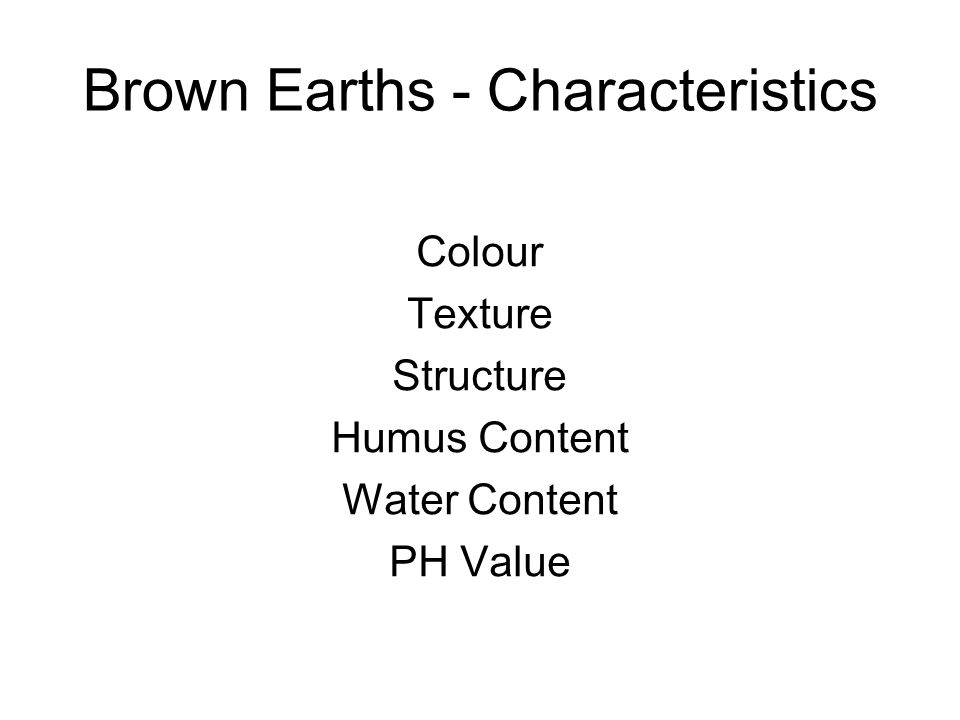 Brown Earths - Characteristics