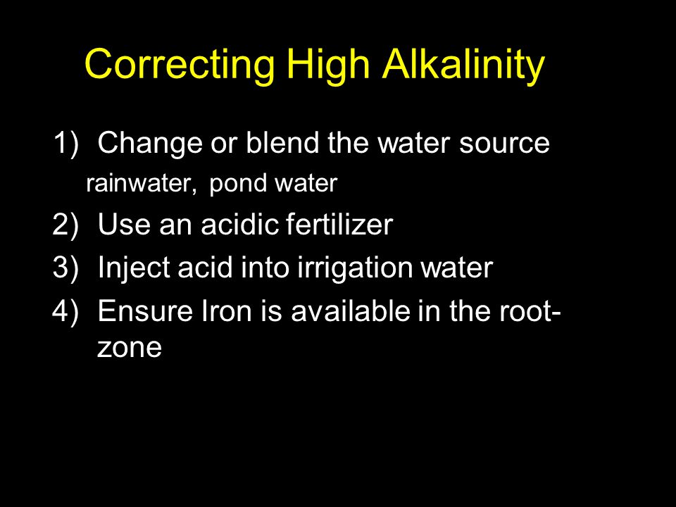Correcting High Alkalinity