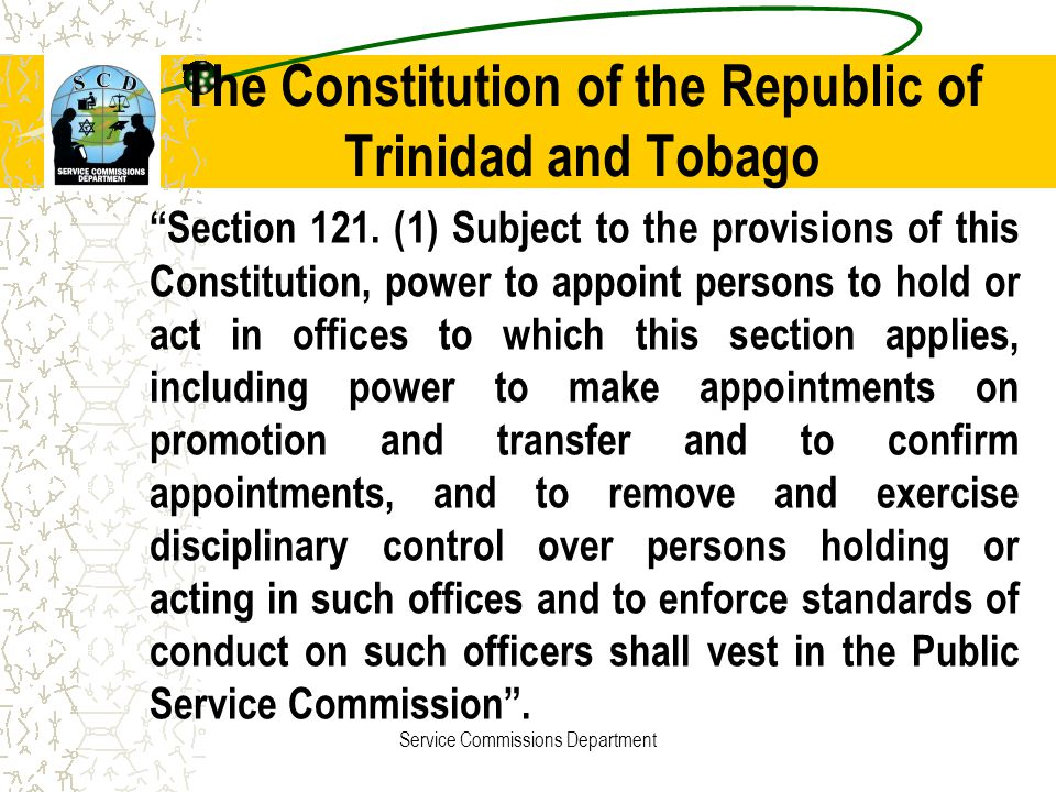 The Constitution of the Republic of Trinidad and Tobago