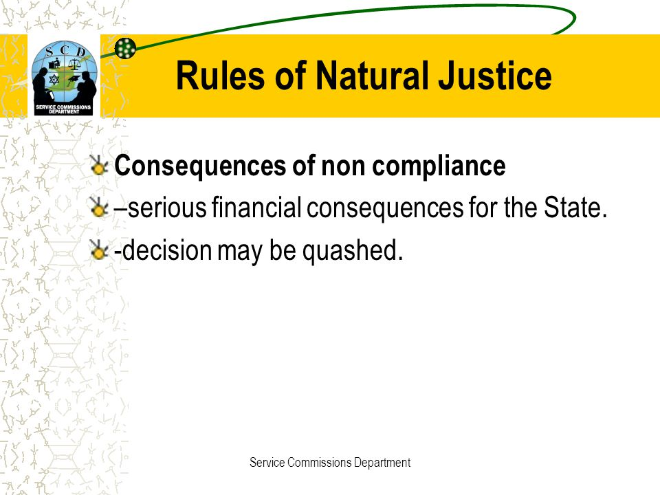 Rules of Natural Justice