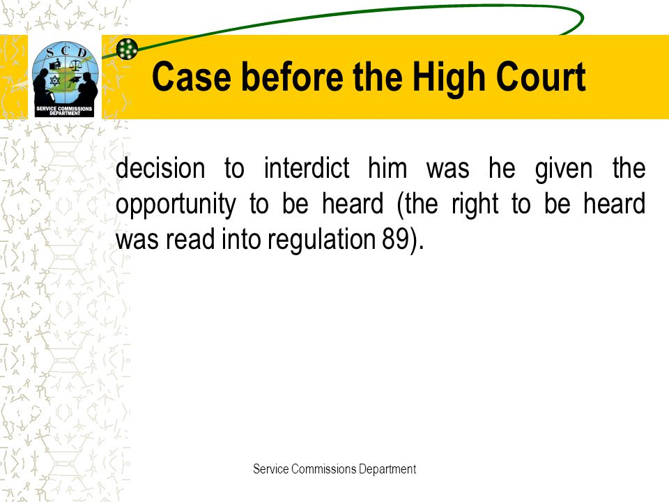 Case before the High Court