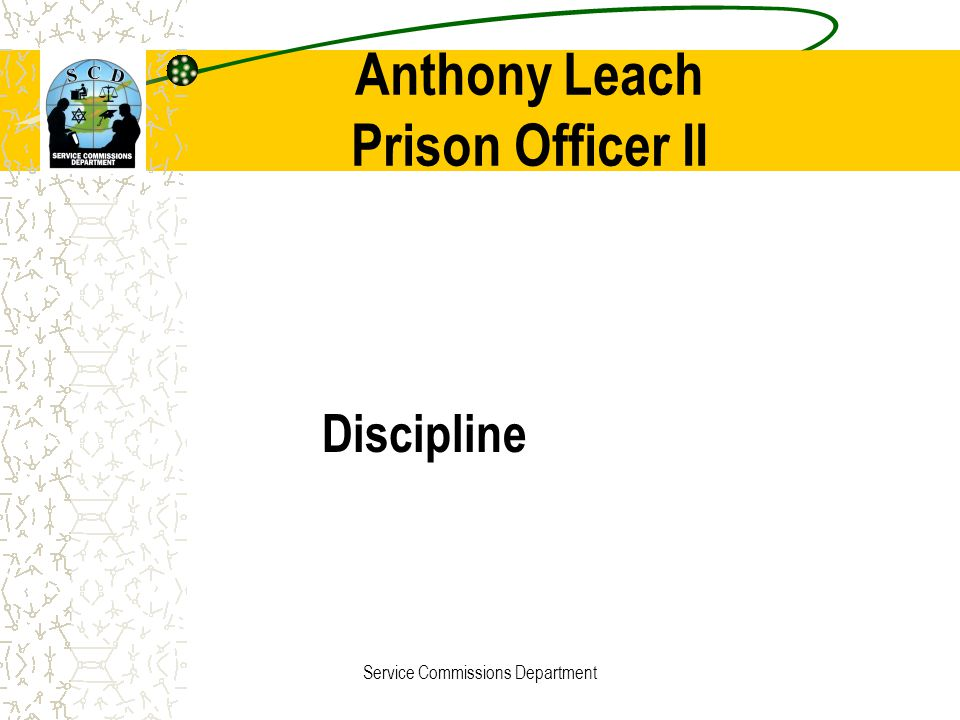 Anthony Leach Prison Officer II
