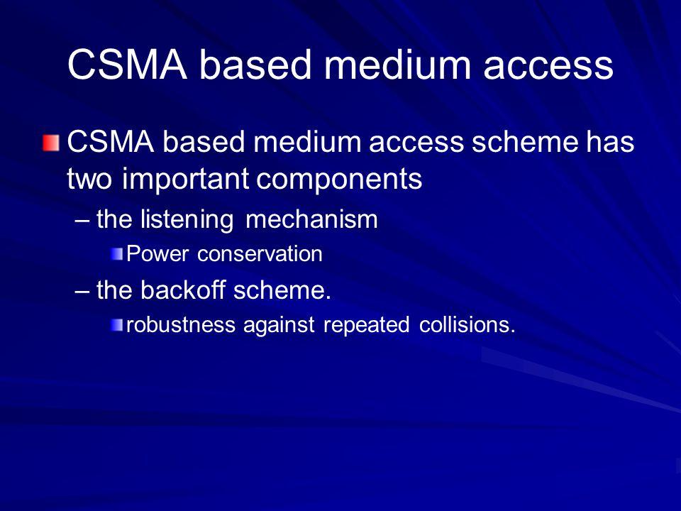 CSMA based medium access