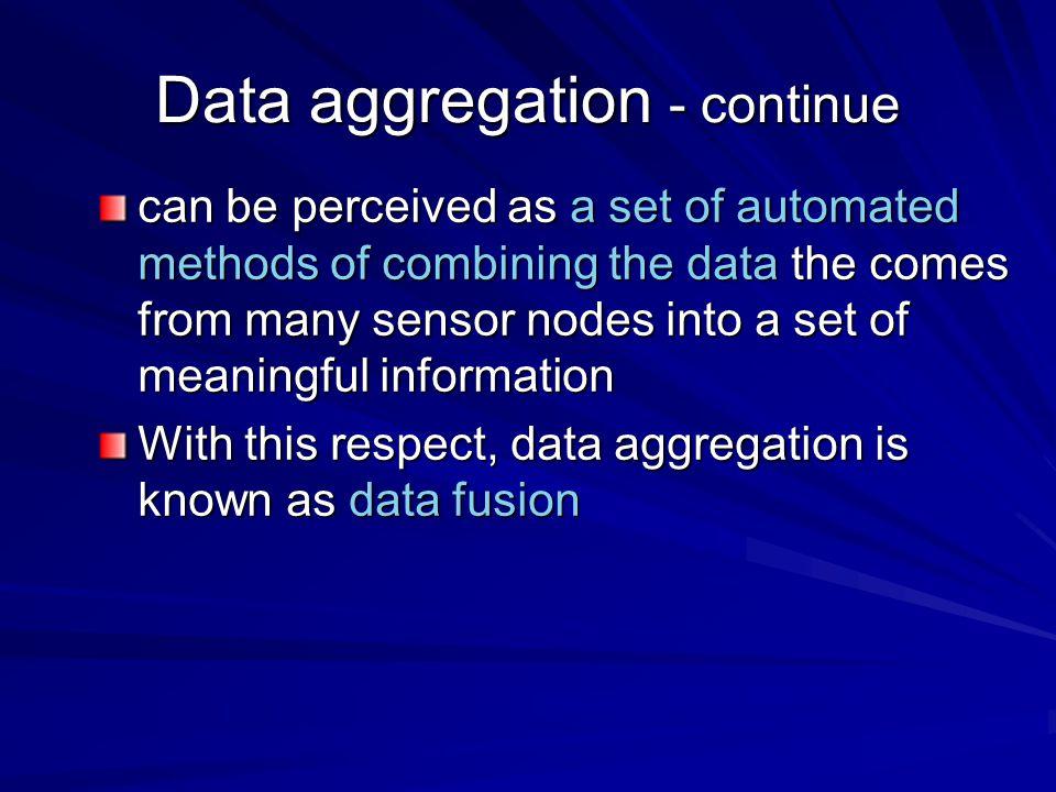 Data aggregation - continue