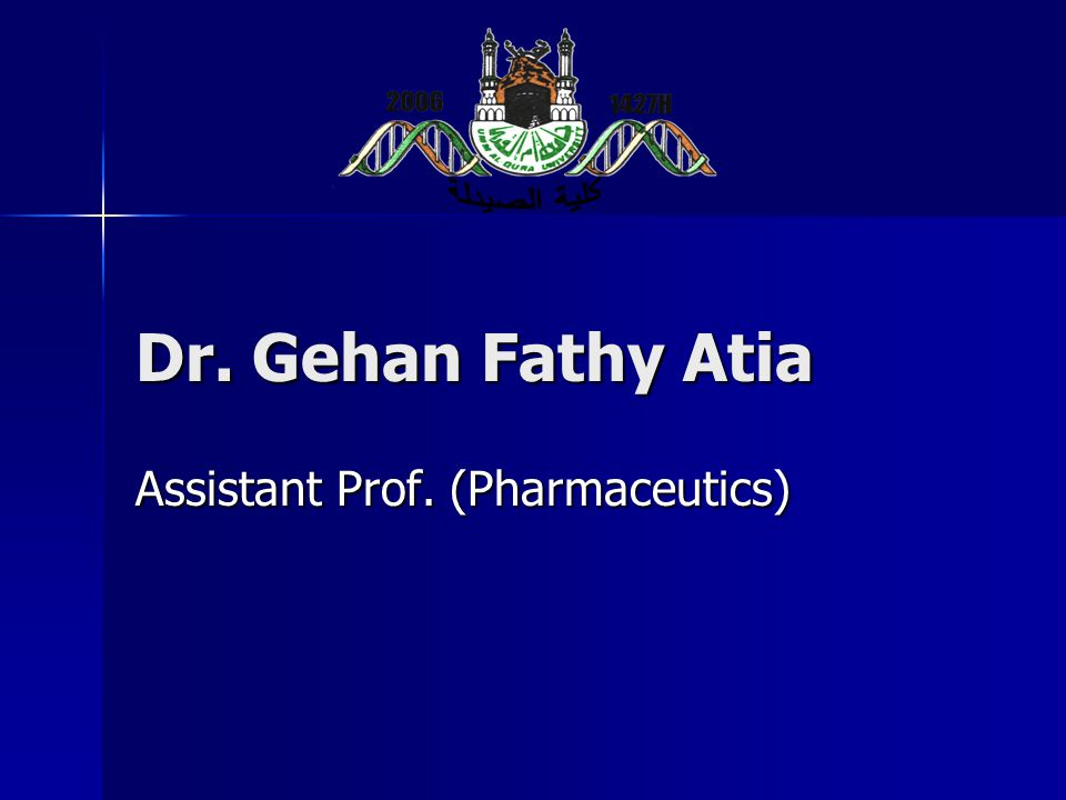 Assistant Prof. (Pharmaceutics)