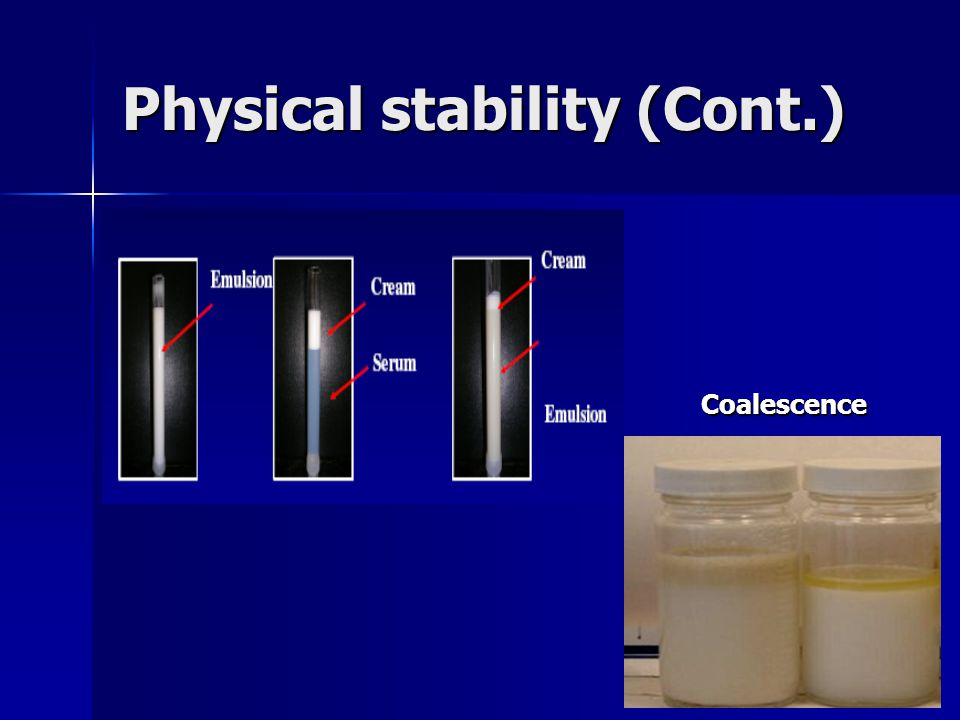 Physical stability (Cont.)