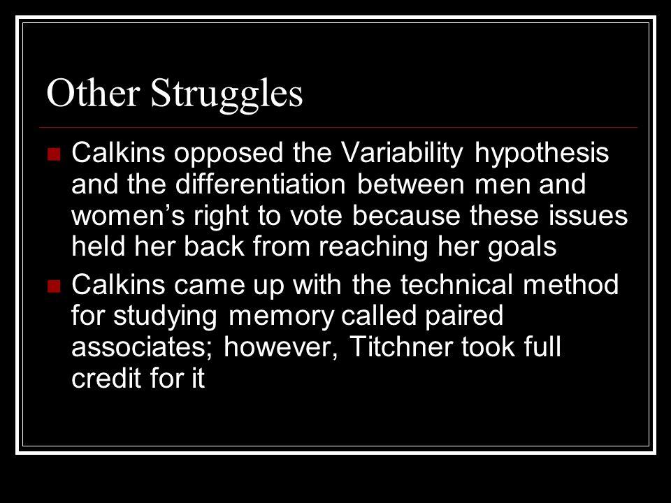 Other Struggles